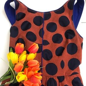 Anthropologie Maeve polka dot dress sz 6